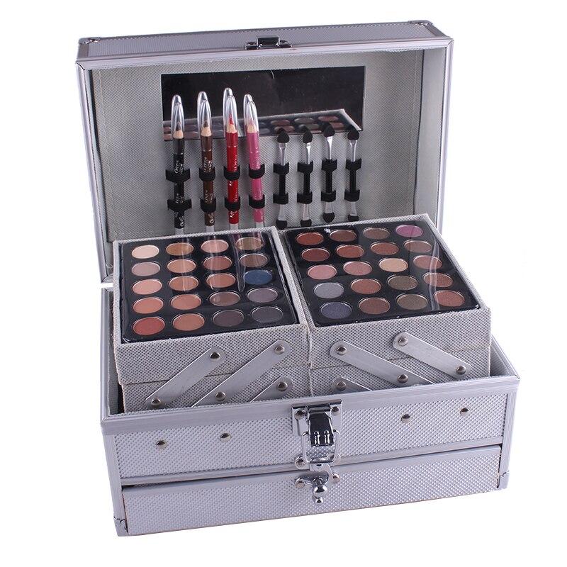 Professionale di Trucco Set Combo matte & shimmer Scatola di Alluminio con Ombretto Blush, fard Contour Polvere Tavolozze per Makeup Artist Kit Regalo - 4