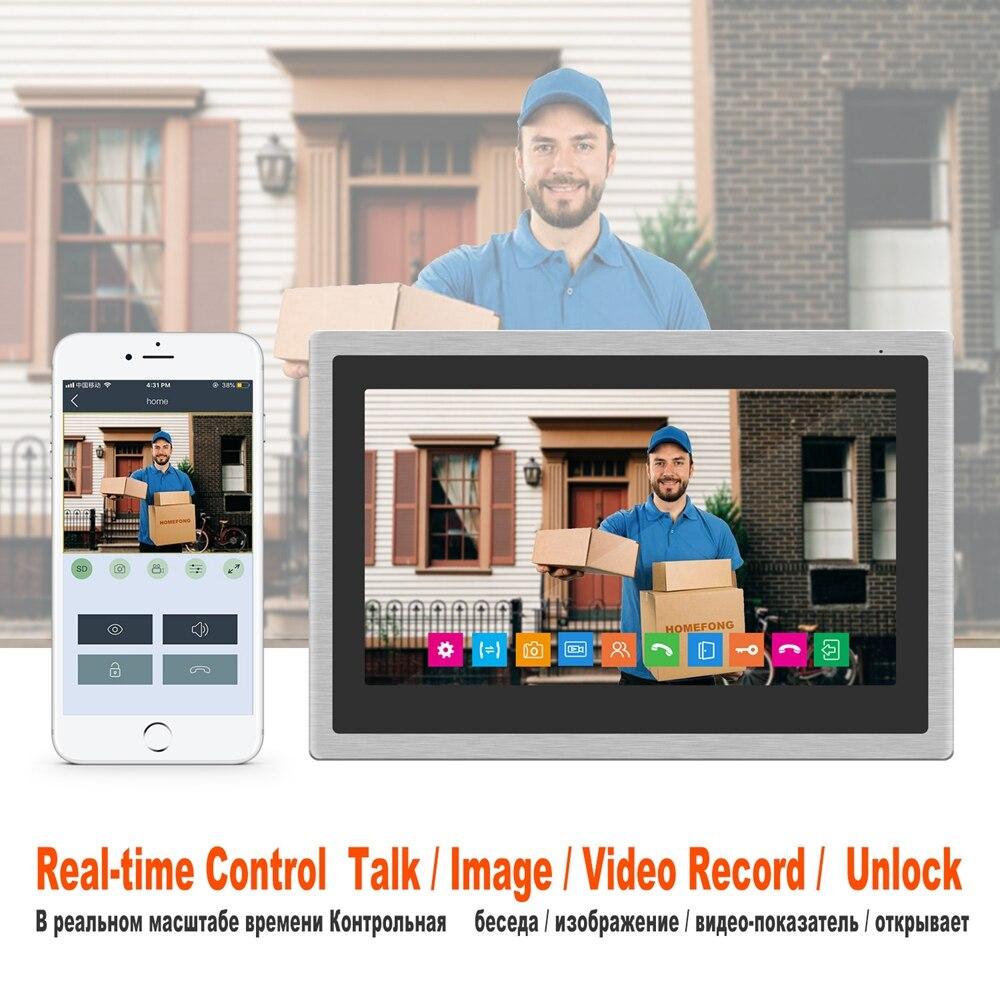 Image 5 - HomeFong Wireless Video Intercom for Home IP Video Doorbell Fingerprint Unlock  HD 10 inch Touch Screen Wifi Intercom System KitVideo Intercom   -