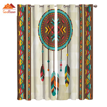 Window Curtains Drapes Feather-Dream Outdoor-Fabric Living-Room Indian Home-Decor