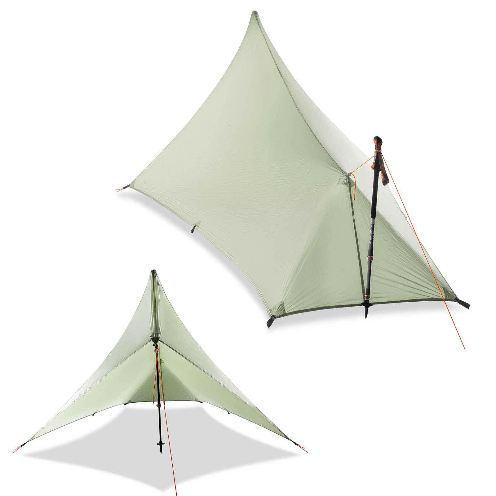 Ultralight 310g Flysheet namiot wodoodporny 20D dwustronna powłoka silikonowa Nylon Camping Shelter baldachim Rainfly lekki plandeka
