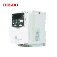 DELIXI AC 380V 0.75KW/1.5KW/2.2KW 3 phase output VFD frequency converter for motor Speed Control 50HZ 60HZ DC DC Inverter drives