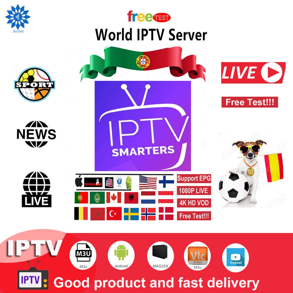 Europe Spain Iptv Subscription UK USA Italy French Spain Sweden Iptv 8000+live For Android Tv Smart Ip Tv Box M3u Free Test EPG
