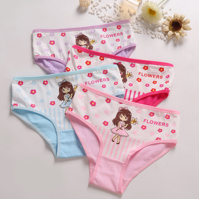 4 Pcs/Lot Baby Girls Panties Cute Cat Cartoon Briefs Stretch Breathable Panties For Girl Kids High Quality Cotton Soft Underwear|Panties| - AliExpress