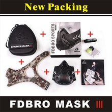 FDBRO Training Sport Mask Gym Equipment Exercise Bicycle Riding Face Masks Run Fitness 2.0 Cycling Protector