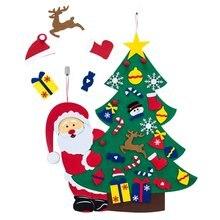 Diy войлочная Рождественская елка украшения узоры с Санта Клаусом