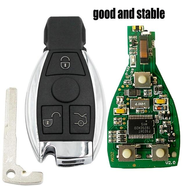3 כפתור חכם מרחוק מפתח 315mhz/433mhz fob עבור מרצדס בנץ לאחר 2000 + NEC & BGA להחליף NEC שבב