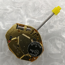 For Miyota GL20 Watch Movement with Battery and universal adjusting stem for 2 Pins Quartz Electronic Repair Parts