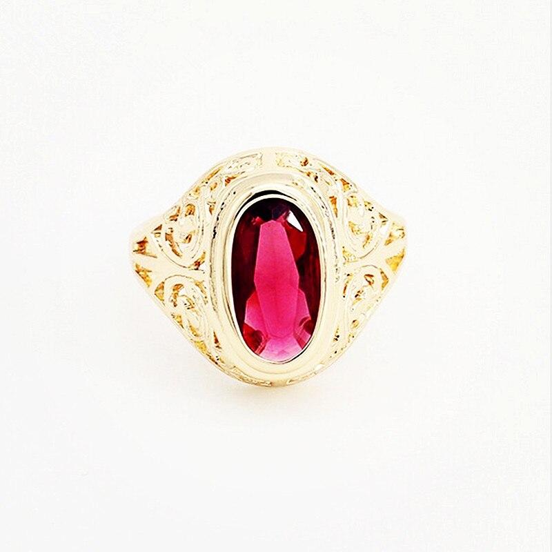 Кольцо из розового золота 585 пробы, женские и мужские кольца с овальным красным камнем и кубическим цирконием, модные обручальные кольца, 2020|wedding rings|men fashion ringmen ring | АлиЭкспресс