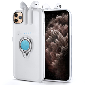 Image 2 - עבור iPhone SE 2020 11 פרו מקס Xs Max Xr 8 7 6 6s בתוספת מקרה אצבע טבעת מחזיק טעינת כיסוי עבור AirPods 1 2 Bluetooth אוזניות