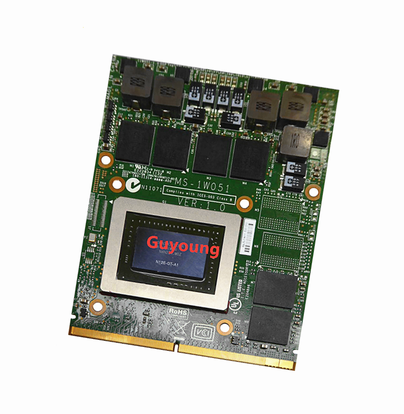 MS-1W051 for NVIDIA GeForce GTX 570M GTX570M N12E-GT-A1 1.5GB GDDR5 Graphics Card FOR MSI