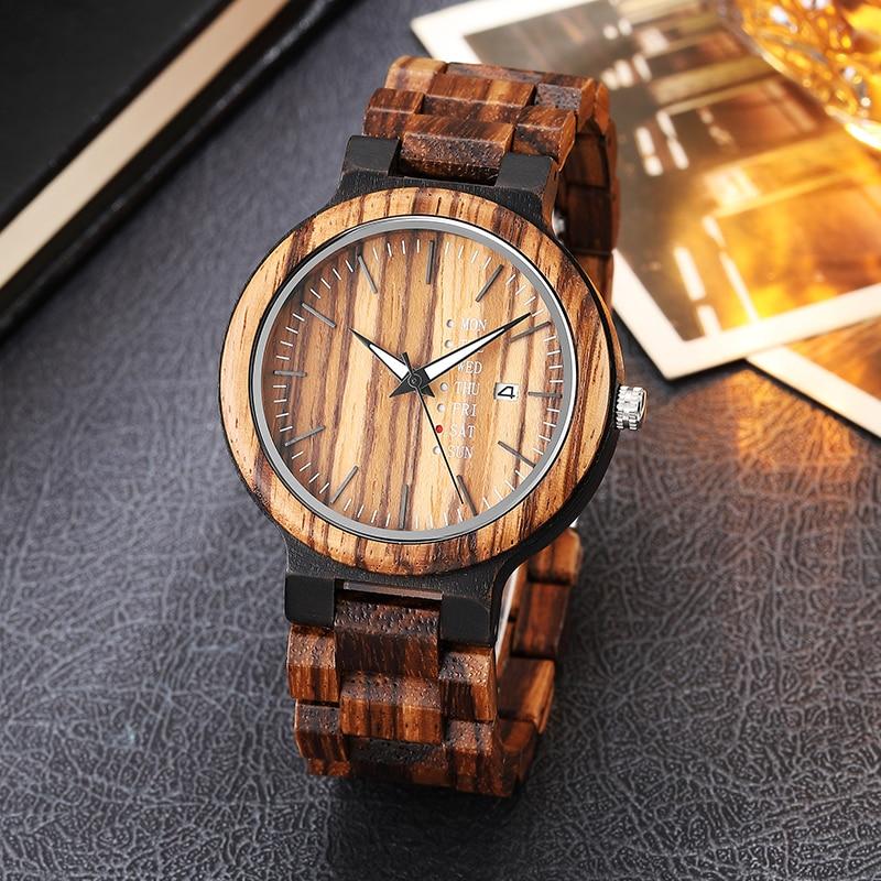 Handcrafted Wood Watch Men Women Unique Minimalist