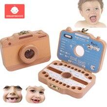 Английская детская коробочка для молочных зубов, деревянная детская коробка для зубов, органайзер для детей, девочек и мальчиков, пуповина Lanugo, сувениры, подарки