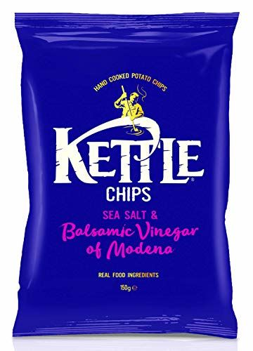 Salt And Vinegar Crisps | KETTLE Chips | Sea Salt & Balsamic Vinegar | Total Weight 150 Grams