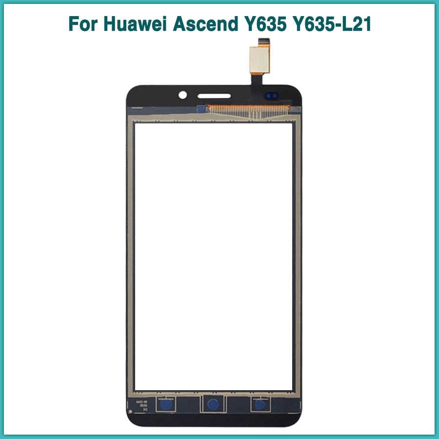 5.0 بوصة جديد LCD تعمل باللمس لهواوي التصاعدي Y635 Y635-L21 شاشة الكريستال السائل محول رقمي يعمل باللمس الاستشعار الجبهة زجاج عدسة