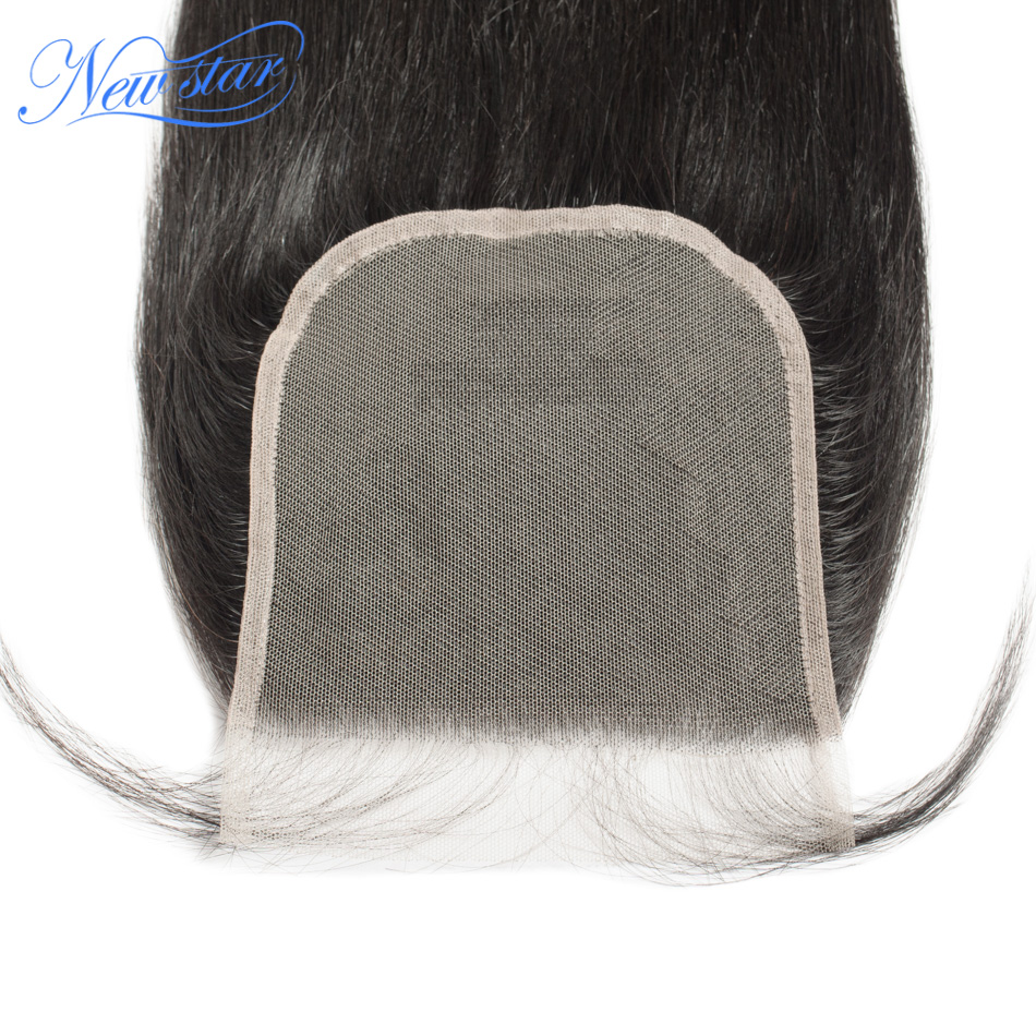 Brazilian Transparent Lace 5x5 Closures New Star Straight Virgin Human Hair Natural Color Free Part With Baby Hair Lace Closure