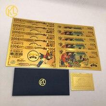 Robot Grendizer UFO Goldorak, 10 pièces, dessin animé japonais, billet d'or 100 EUR pour Collection de Fans
