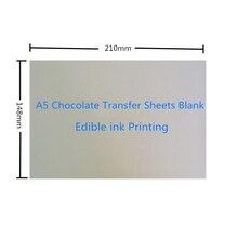 50 листов/лот А5 Размер шоколадная пустая переводная бумага нанесение пищевых принтов на шоколад и торт съедобные чернила печать прессформы оптом
