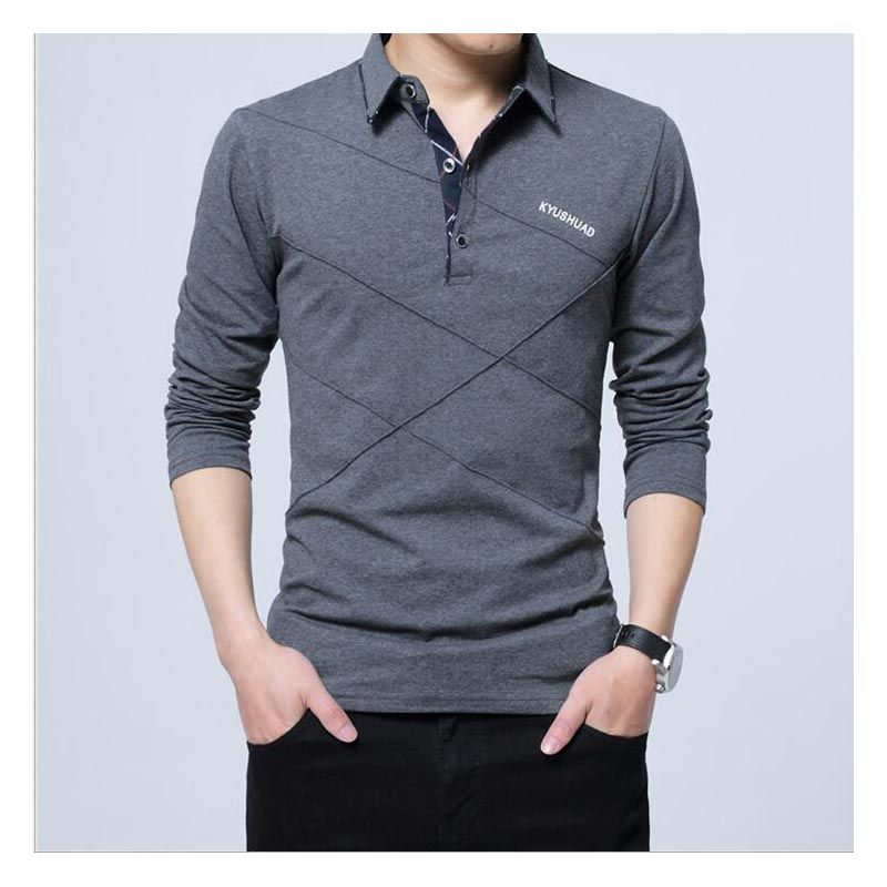 Long Polo Shirt Collar Men Plus Size 5XL Autumn Button Brand Men Polo Shirt Long Sleeve Casual Male Shirt Polo Shirts