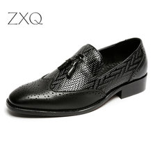 Large size 38-46 Fashion Summer Tassel Men Casual Leather Flats Shoes Slip On Driving Loafers Moccasins