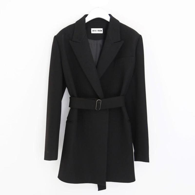 2019 Slim Blazers Women Autumn Suit Jacket Female Work Office Lady Suit Black None Button BusinessBlazer Coat Fashion