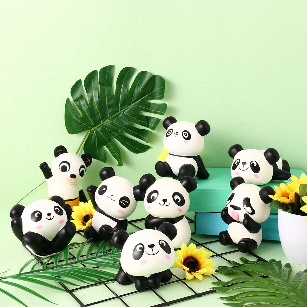 Squishier Panda Slow Rising Scented Kawaii Squishier Animal Toy 8 PCs Stress Relief Toys Environmental Protection Materials W822
