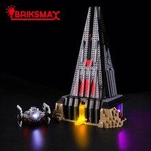 BriksMax светодиодный свет вверх набор для построения замка Дарта Вейдера блоки, совместимые с 75251 (не включить модель)