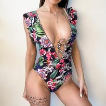 Nowy Sexy wzburzyć druku jednoczęściowy strój kąpielowy zamknięte damskie stroje kąpielowe Push Up Body kobiety pływanie strój kąpielowy plaża basen kąpiel 2021 tanie tanio ASKATE CN (pochodzenie) POLIESTER NYLON spandex WOMEN Drukuj do pływania Dobrze pasuje do rozmiaru wybierz swój normalny rozmiar