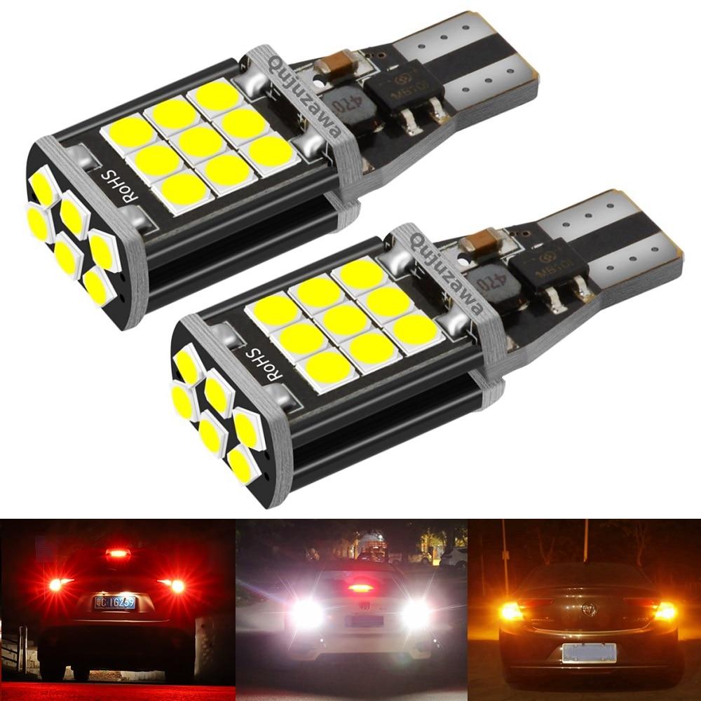2 шт. Новый T15 W16W WY16W супер яркий светодиодный задний фонарь автомобиля лампы стоп сигнала поворотники Canbus Авто Bcakup обратный светильник дневной ходовой светильник|Сигнальная лампа|   | АлиЭкспресс -