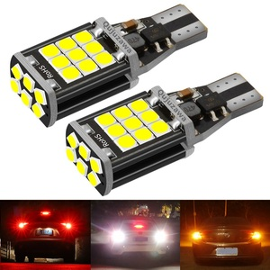 2PCS New T15 W16W WY16W Super Bright LED Car Tail Brake Bulbs Turn Signals Canbus Auto Bcakup Reverse Lamp Daytime Running Light