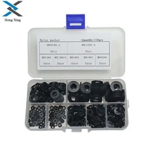 350Pcs Plastic Washer Black M2-M8/PCB Nylon Plastic Washer Bolt Assortment kit set With Plastic Box Gasket RingFastener Hardware sale 364pcs set nylon material black nylon rubber flat ring repair washer gasket for metric m2 m8 wholesale quick delivery csv