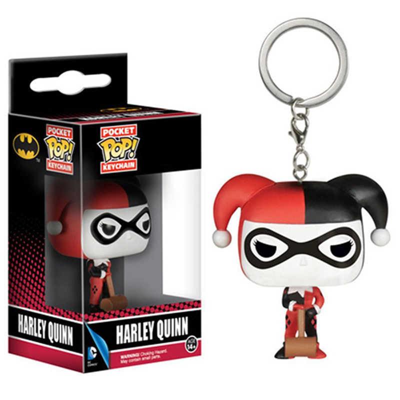 Funko Pop Pocket DC Suicide брелок команда Харли Куинн Бэтмен вер фигурка игрушки
