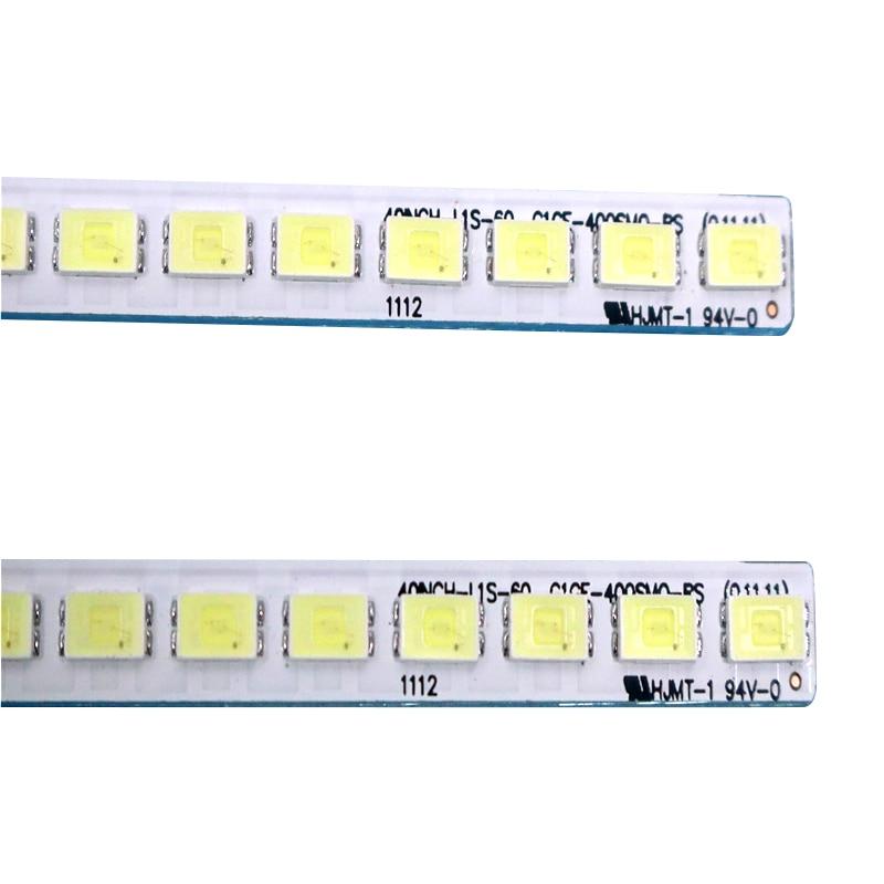 455mm LED Backlight Lamp Strip 60leds For 40 Inch LCD TV L40F3200B LJ64-03029A LTA400HM13 40INCH-L1S-60 G1GE-400SM0-R6 2pcs