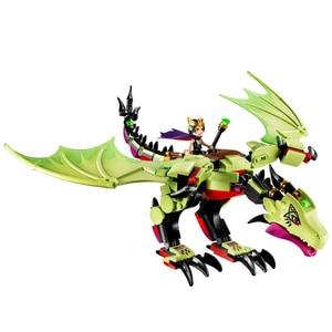 10695 elfen Die Goblin King der Bösen Drachen Bausteine Ziegel Spielzeug Modell Kompatibel mit Figuren 41183 für Kinder Geschenk