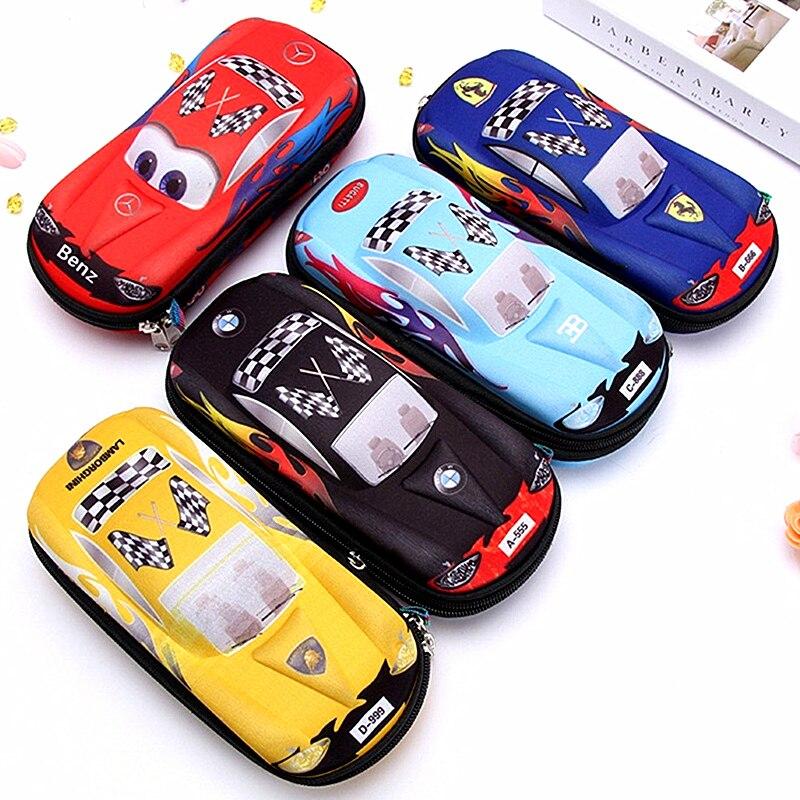 Car Pencil Case Kawaii Cartoon Stationery For Boys Kids Pen Box Bag School EVA