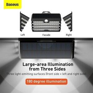 Baseus светодиодный светильник на солнечных батареях, уличный Солнечный садовый светильник, настенный светильник с датчиком движения, водоне...