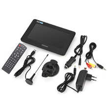 LEADSTAR 7 pouces DVB-T-T2 16:9 HD numérique analogique Portable TV couleur lecteur de télévision pour voiture à domicile 110-220V pour prise ue TV numérique