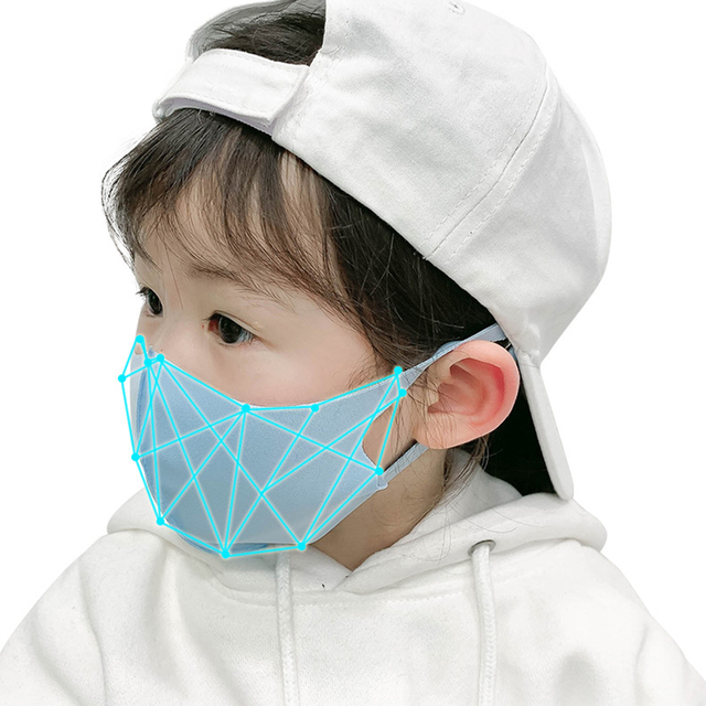 10pcs Kids Children Mouth Mask For 4-11 Years Anti Pollution Mask PM2.5 Air Dust Face Masks Thin Washable Reusable Mouth Cover 3