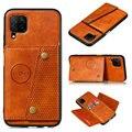 Кожаный бумажник с отделением для карт и рисунком кожи задняя панель из искусственной кожи для Samsung Galaxy A52 2021 A02S A32 A12 A72 5G флип-кейс 12 Большие р...