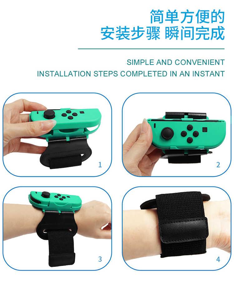 Nintend Switch Aksesoris Permainan Pergelangan Tangan Band NS Switch Joy-Con Controller Disesuaikan Hewan Crossing NS Gelang Tali Tangan