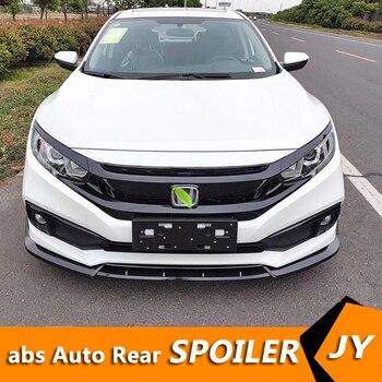 For Honda Civic Body kit spoiler 2019-2020 For Civic SC ABS Rear lip rear spoiler front Bumper Diffuser Bumpers Protector