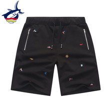 Tace & Shark Brand men's summer shorts 97% Cotton Embroidery