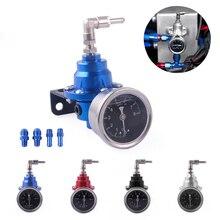 Regulador de presión de combustible Universal para coche, Kit de manómetro de aceite FPR, varios colores, regulador automático de combustible