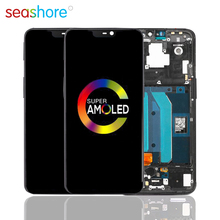 100% ORIGINAL For OnePlus 6 LCD Touch Screen Digitizer Assembly For Oneplus 6 Display with Frame Replacement 1+6 A6000 A6003 LCD original 6 1761617 1