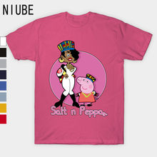 Salt n Peppa T-Shirt 100% Cotton Plus Size Short Casual T-shirts For Man(China)