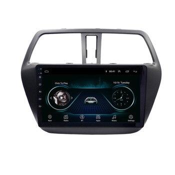 """Reproductor Multimedia de DVD para coche con Navegación y Radio GPS, 4G LTE, Android 10,1 para Suzuki s-cross SX4 2014 2015 2016 2017, 9"""""""
