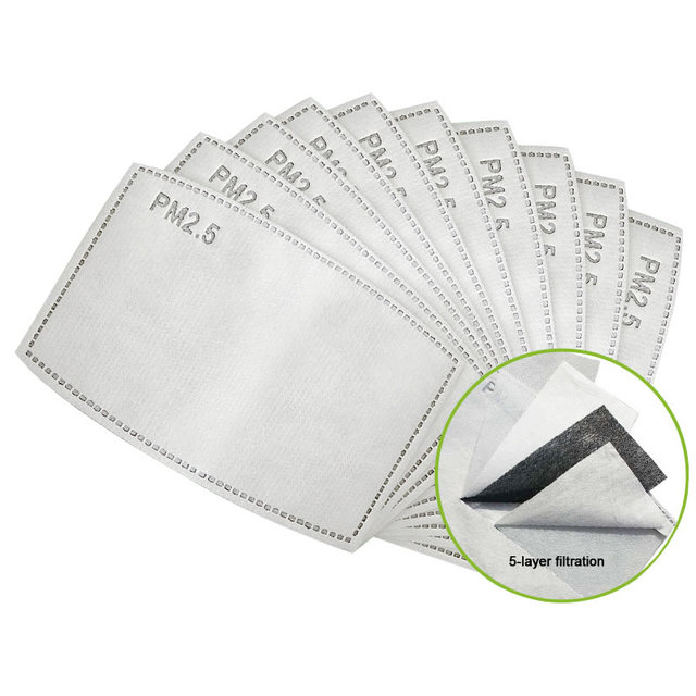 5 Layers Activated Carbon Filter Mask Pad Disposable Face Antivirus Flu Anti Bacteria Proof PM2.5 Insert Protective Face Mask 2