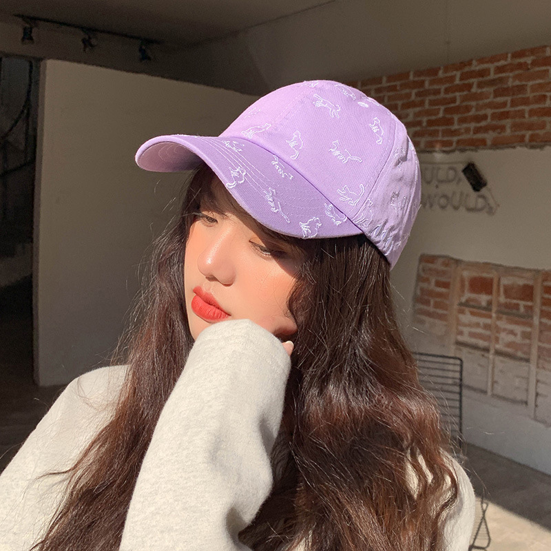 2021 Summer New Baseball Caps for Men and Women Fitted Hats Cute Cat Cap  Adult Flat Peak Full Closed Gorra Visor Hat