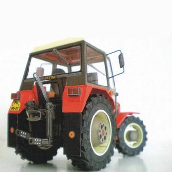1:32 DIY Czech Zetor 7745-7211 Tractor Card Model Building Model Educational Machinery Toy Agricultural Manual Car Sets O8L3 image