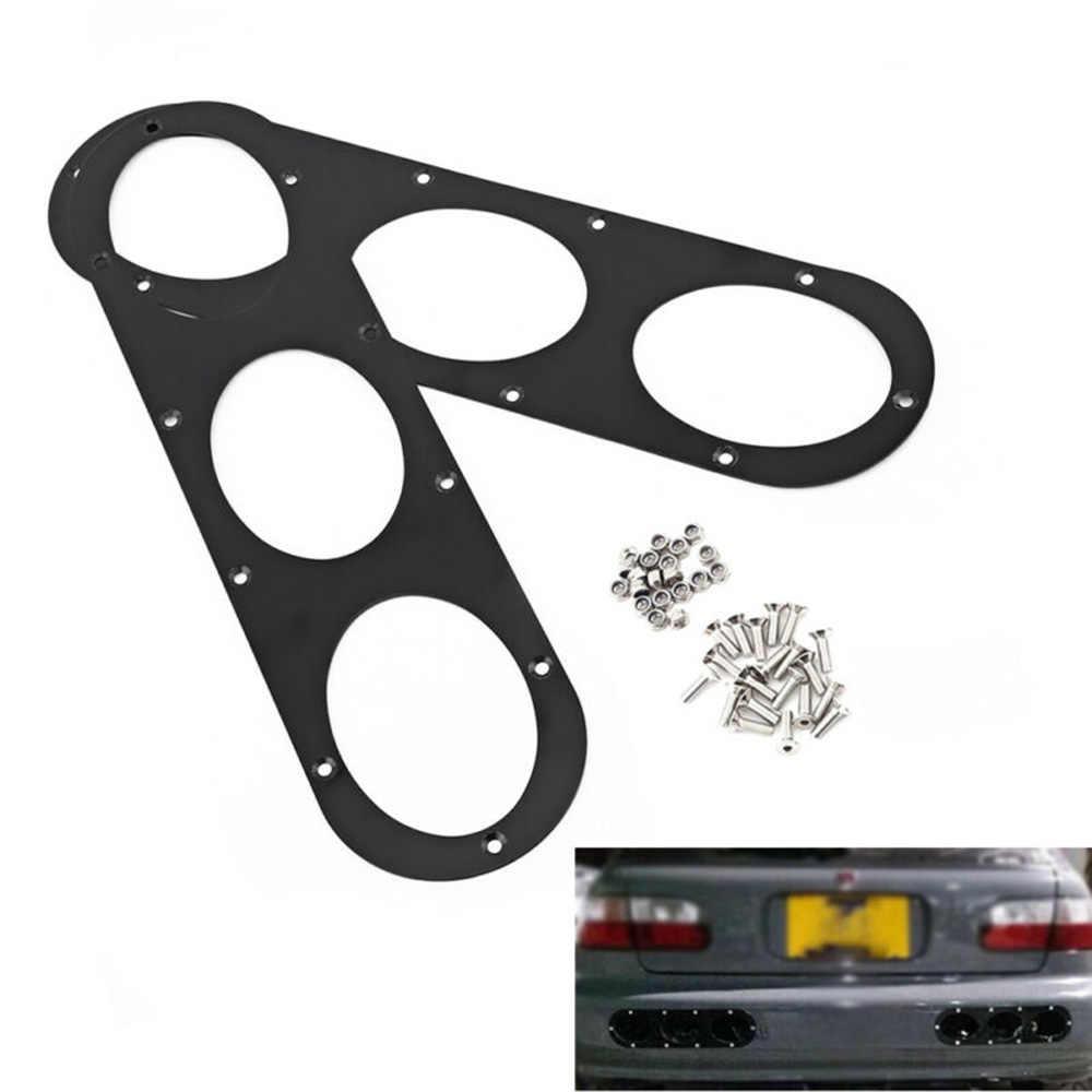 2PCS Aluminum Alloy Universal Car Rear Bumper Race Air Diversion Diffuser Panel