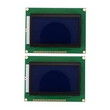 OPQ-128x64 горошек ЖК-дисплей модуль 5V Синий Экран 12864 ЖК-дисплей с Подсветка ST7920 параллельно Порты и разъёмы ЖК-дисплей 12864